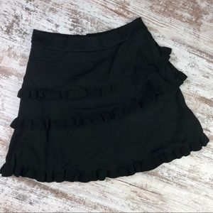 Zara Knit Black Ruffle Skirt